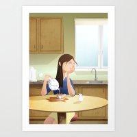 Absen-Tea Art Print