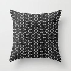 Black Hex Throw Pillow