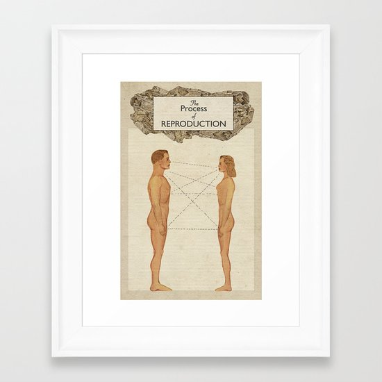 The Process of Reproduction I Framed Art Print