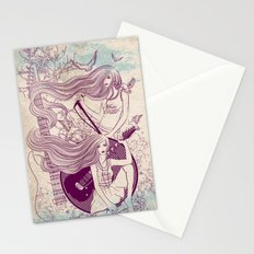 Music, Love, Peace Stationery Cards