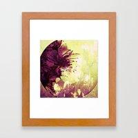 Circle of flowers Framed Art Print