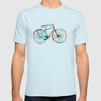 Bicycle Mens Fitted Tee Light Blue SMALL