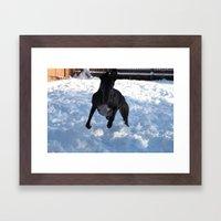Winter fun Framed Art Print