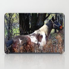 Horse with Blue Bridle iPad Case