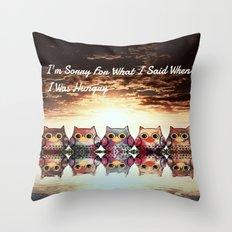 owl-895 Throw Pillow