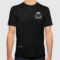 Academic Crest Mens Fitted Tee Tri-Black SMALL
