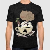 Cafe Latte Mens Fitted Tee Tri-Black SMALL