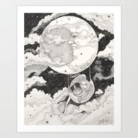 Moon Angel Art Print