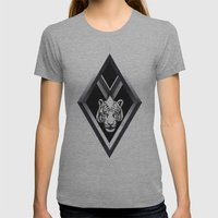 Diamante Womens Fitted Tee Athletic Grey SMALL