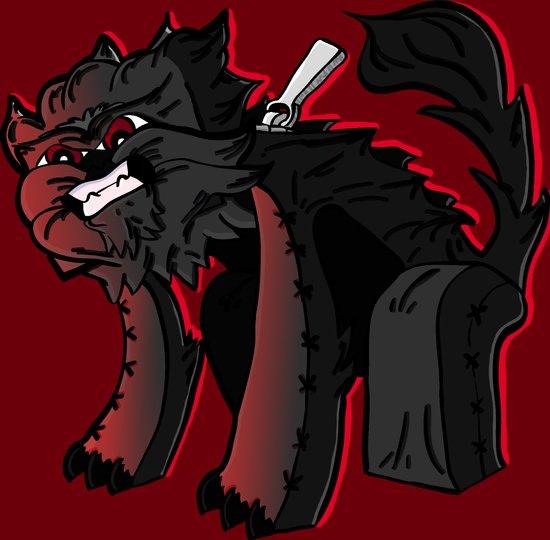 Curse of the furry Wereblock - Minecraft Avatar Art Print