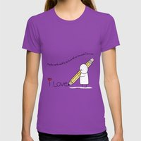 I Love You...  Womens Fitted Tee Ultraviolet SMALL