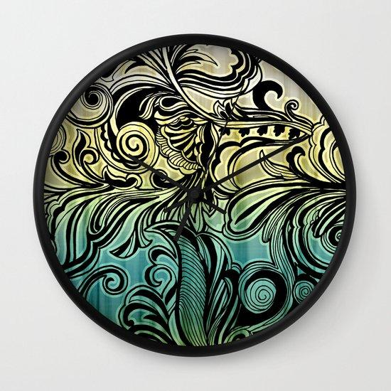 Swirl and Curl Wall Clock