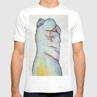 Macrodactyly Mens Fitted Tee White SMALL