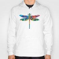 Colorful Dragonfly Art B… Hoody
