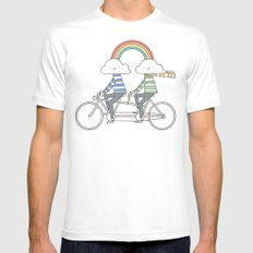 Love makes life a beautiful ride White Mens Fitted Tee SMALL