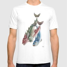 INKYFISH - Fish friends SMALL White Mens Fitted Tee