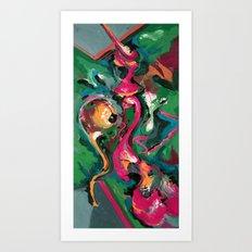 Wish pink Art Print