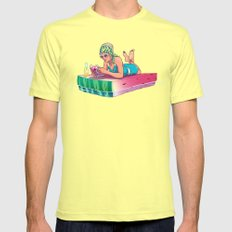 Watermelon Mens Fitted Tee Lemon SMALL
