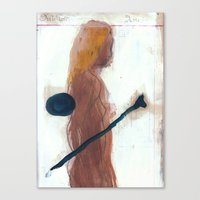 Woman And Bone Canvas Print