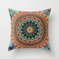 Sunset Desert Mandala Throw Pillow