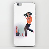 Dancing with Devils (White) iPhone & iPod Skin