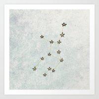 Virgo X Astrology X Zodi… Art Print