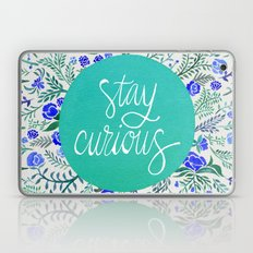 Stay Curious – Navy & Turquoise Laptop & iPad Skin
