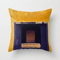 Emperor's yellow house Throw Pillow