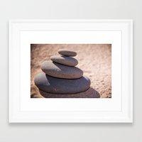 Balancing the world Framed Art Print