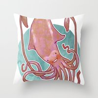 Squido Throw Pillow
