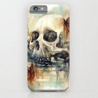calavera mariposa - watercolor skull iPhone 6 Slim Case
