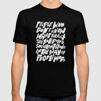 PEOPLE Mens Fitted Tee Black SMALL