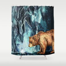 BearCave Shower Curtain