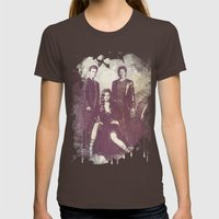 The Vampire Diaries TV Series Womens Fitted Tee Brown SMALL