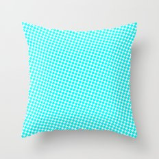 BLUE DOT Throw Pillow
