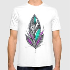 Harvest Feather 2 SMALL White Mens Fitted Tee