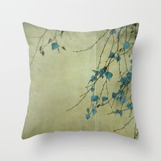 Tree in blue Throw Pillow