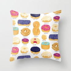 Donut Identification Throw Pillow