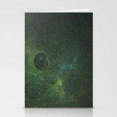 Green Fractal Stationery Cards