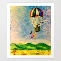 BALLOON LOVE: Flying Awa… Art Print