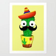 Mr Cactus Art Print
