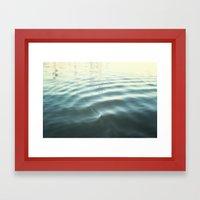 Water Ripple Framed Art Print