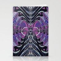 Purple Galaxy Stationery Cards