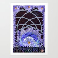 Space Lotus Art Print