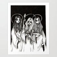 THREE WITCHES.    Art Print