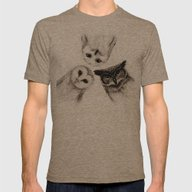 The Owl's 3 Mens Fitted Tee Tri-Coffee LARGE
