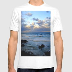 CoffsHarbour Mens Fitted Tee SMALL White