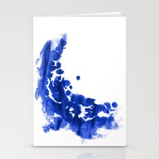 Paint 9 abstract indigo watercolor painting minimal modern canvas affordable dorm college art  Stationery Cards