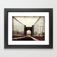 The End Of Suspension Framed Art Print