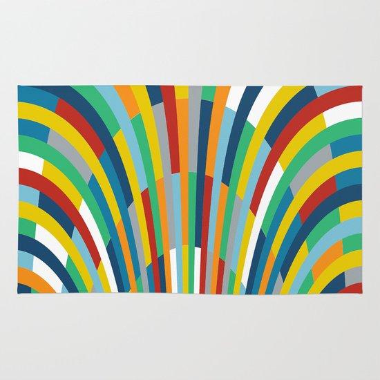 Rainbow Bricks #2 Area & Throw Rug